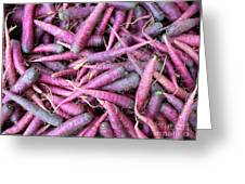 Purple Carrots Number 1 Greeting Card