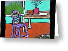 Purple Chair Greeting Card