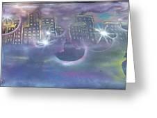 Purple City  Greeting Card