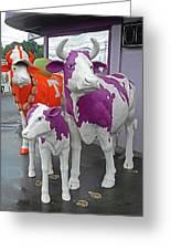 Purple Cow 2 Greeting Card
