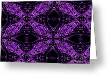 Purple Crosses Connecting Greeting Card