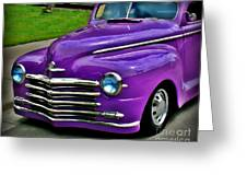 Purple Cruise Greeting Card