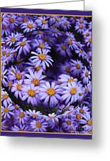 Purple Daisy Abstract Greeting Card
