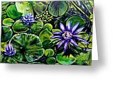 Purple Dawn Greeting Card