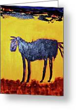 Purple Desert Donkey Greeting Card