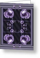 Purple Dimensions Greeting Card