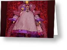 Purple Doll Greeting Card
