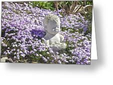 Purple Flocks  Greeting Card