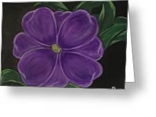 Purple Flower Greeting Card by Melanie Blankenship