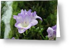 Purple Flower Painting Greeting Card