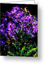 Purple Flower Still Life Greeting Card