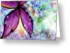 Purple Flower Watercolor Doodle Greeting Card