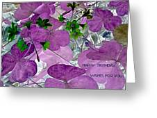 Purple Flower Wishes Greeting Card