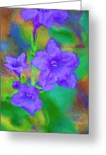 Purple Flowers 102310 Greeting Card