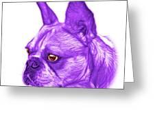 Purple French Bulldog Pop Art - 0755 Wb Greeting Card