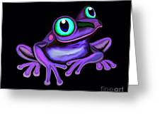 Purple Frog  Greeting Card