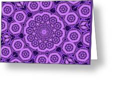 Purple Geek Kaleidoscope Five Greeting Card