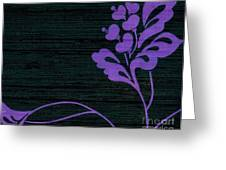 Purple Glamour On Black Weave Greeting Card