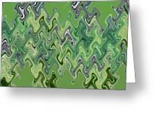 Purple Green Smoke Swirl Greeting Card