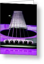 Purple Guitar 15 Greeting Card