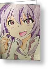 Purple Hair Greeting Card