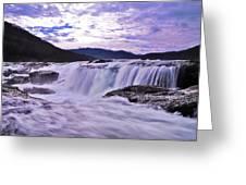 Purple Haze Waterfall Greeting Card