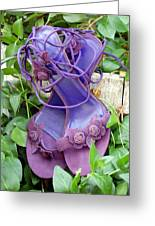 Purple Heels In Periwinkle Greeting Card