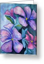Purple Hibiscus Greeting Card