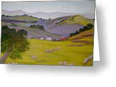 Purple Hills Greeting Card