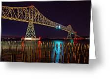 Purple Hour At Astoria Bridge Greeting Card