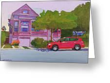 Purple House, Alameda Greeting Card