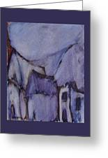 Purple Hut Greeting Card
