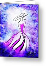 Purple Lady Charm Greeting Card