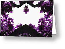 Purple Leaves Greeting Card