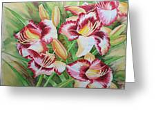 Purple Lilies.2007 Greeting Card