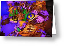 Purple Love. Pet Series Greeting Card