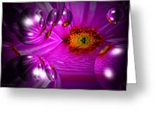 Purple Magic Greeting Card