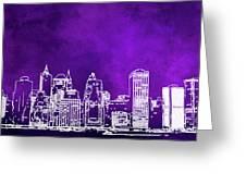 Purple Manhattan Greeting Card