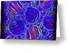 Purple Marbles Shower Curtain Greeting Card