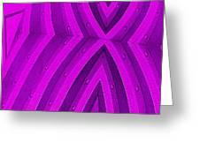 Purple Maze Greeting Card