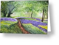 Purple Meadow Greeting Card