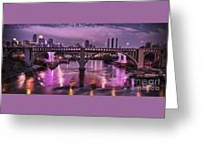 Purple Minneapolis For Prince Greeting Card
