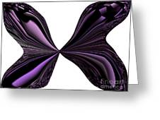 Purple Monarch Butterfly Abstract Greeting Card