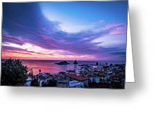 Purple Morning Greeting Card