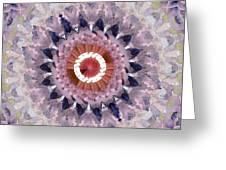 Purple Mosaic Mandala - Abstract Art By Linda Woods Greeting Card