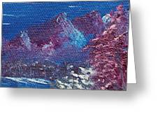 Purple Mountain Landscape Greeting Card