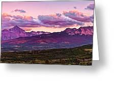 Purple Mountain Sunset Greeting Card