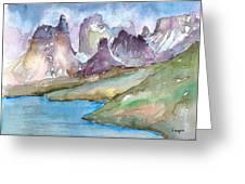 Purple Mountains Greeting Card