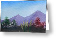 Purple Mountains In The Summer Greeting Card