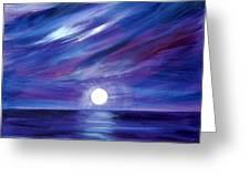 Purple Night Greeting Card